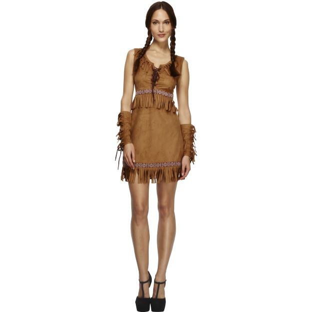 Image of   Pocahontas kjole: Størrelse - M