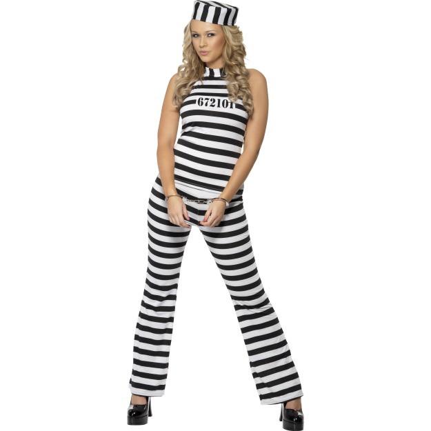 Straffefange kostume: Størrelse - M
