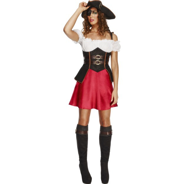 Image of   Pige pirat kostume: Størrelse - L