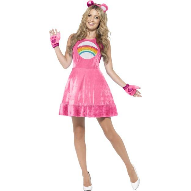 Image of   Care bears kjole kostume pink: Størrelse - M
