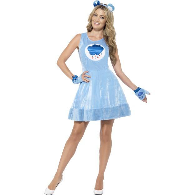 Billede af Care bears kjole kostume blå: Størrelse - M