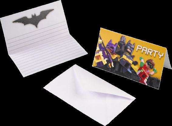 Billede af Batman - Lego Invitationer - 8 Stk.