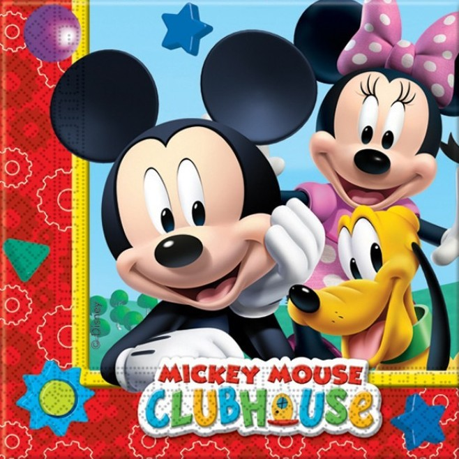 Billede af Mickey Mouse servietter Clubhouse