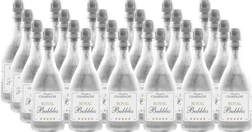 Champagne sæbebobler - Bryllup - 24 Stk.