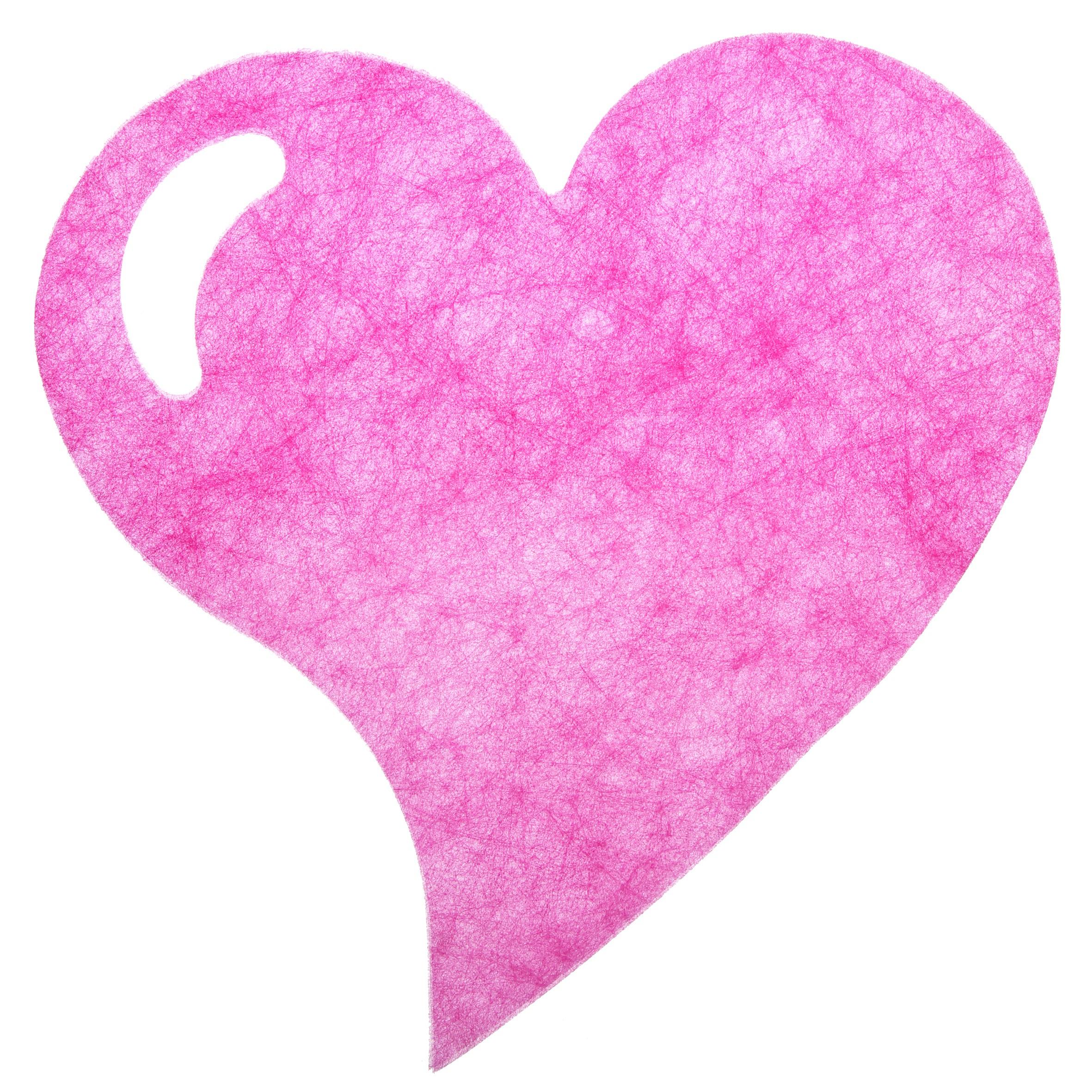 Hjerteformet dækkeserviet - Pink