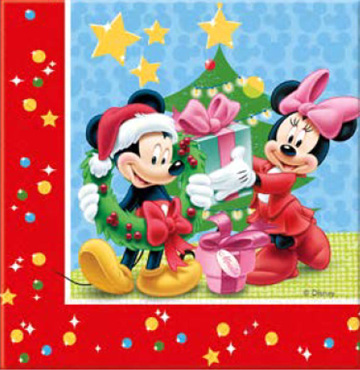 Billede af Mickey jule servietter