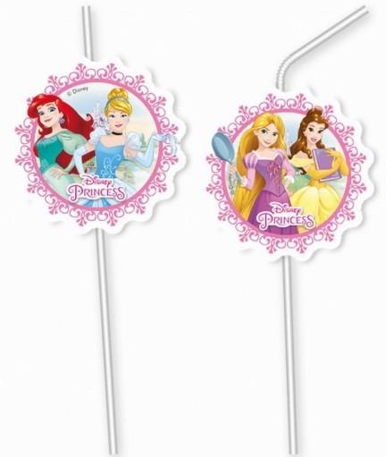 Billede af Disney Prinsesser sugerør - 6 stk.