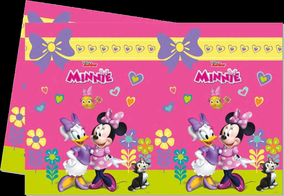 Billede af Minnie Mouse plastik dug - Pink