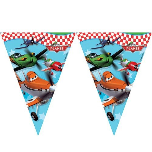 Billede af Flyvemaskiner flag banner