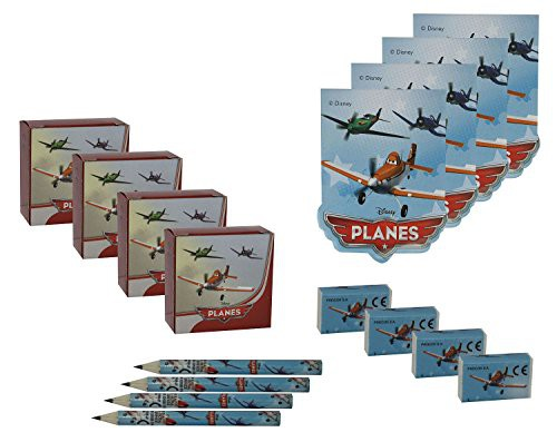 Billede af Flyvemaskiner action skrivesæt til slikposer