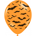 6 stk. Halloween ballon - Flagermus