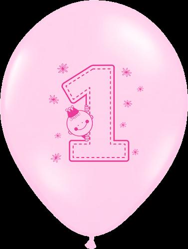 Billede af Første fødselsdag ballon - Pige