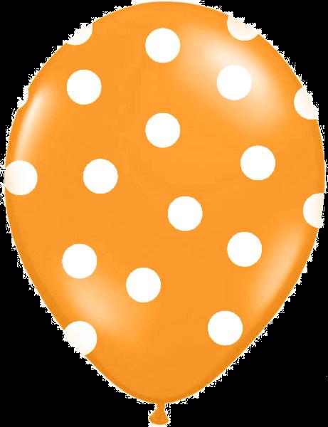 Billede af Orange ballon med hvide prikker