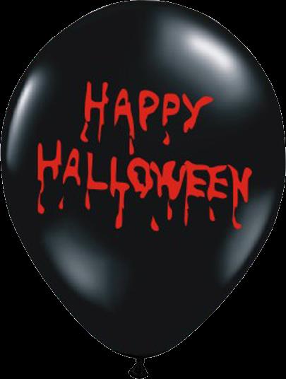 Billede af Hally Halloween ballon - Sort