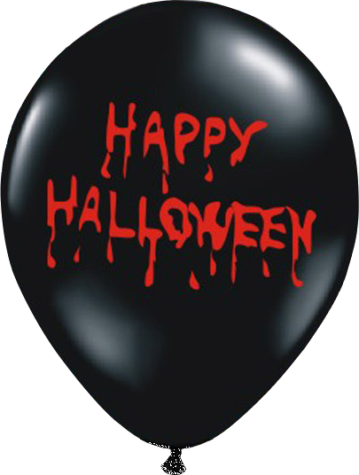 Billede af Happy Halloween ballon - Sort