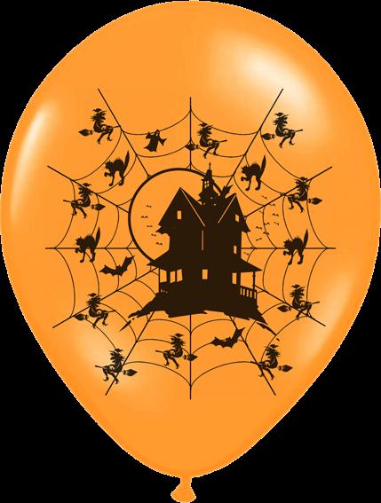 Billede af Halloween ballon - Haunted house