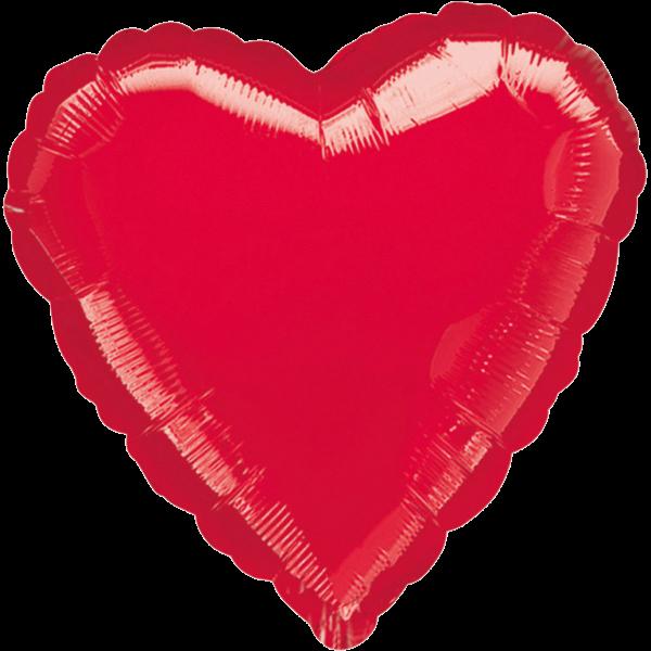 Billede af Rød hjerte folie ballon