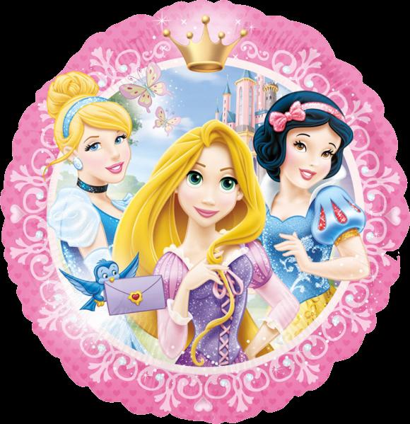 Billede af Disney Prinsesser rund folie ballon