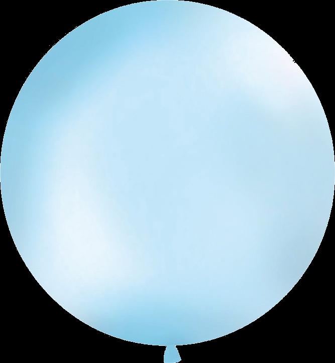 Billede af Lys blå kæmpe ballon (1 meter diameter)