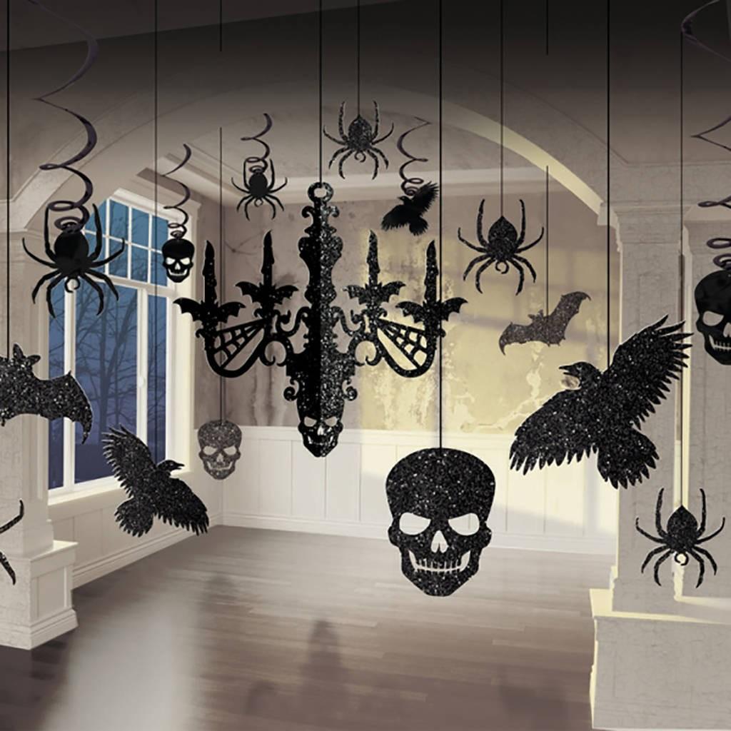 Billede af Halloween Loftdekorationer - Glimmer - 9 dele