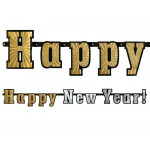 Happy new year banner - holografisk