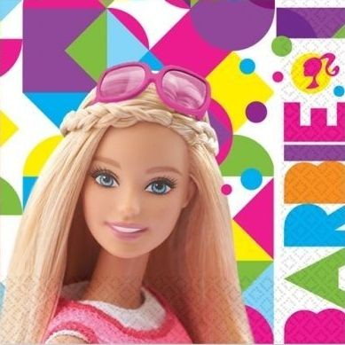 Image of   Barbie servietter - Party