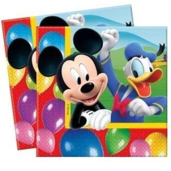 Billede af 20 Stk. Mickey Mouse servietter, Party