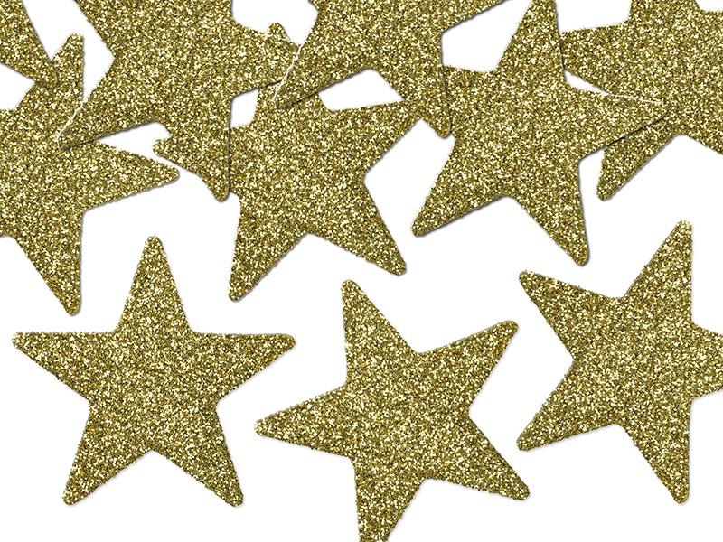 Guld stjerne 5 cm - 8 stk