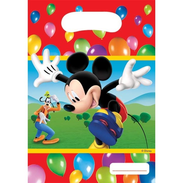 Image of   6 Stk. Mickey Mouse slikposer, Party