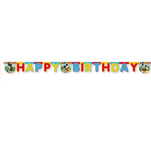 Billede af Mickey Mouse fødselsdags banner, Party