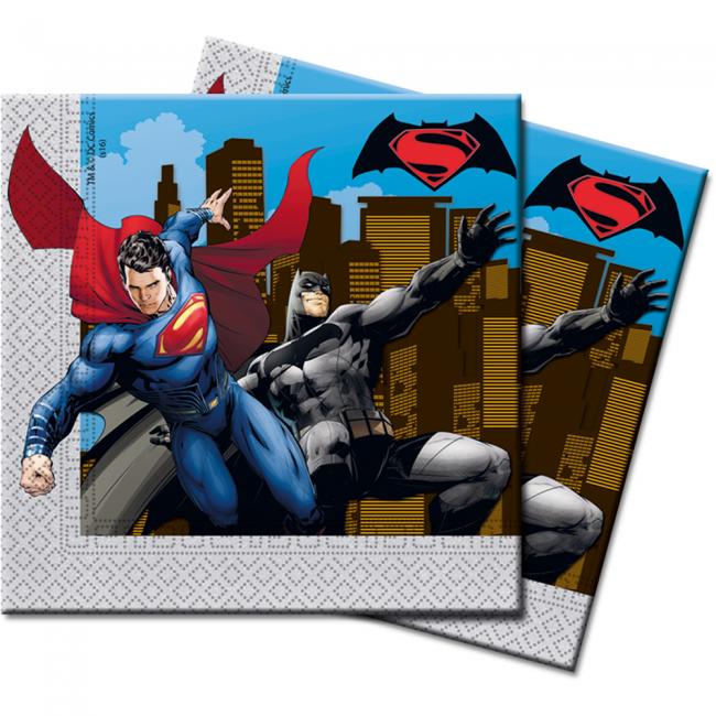 Billede af Batman v Superman servietter