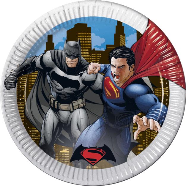 Billede af Batman v Superman paptallerkner
