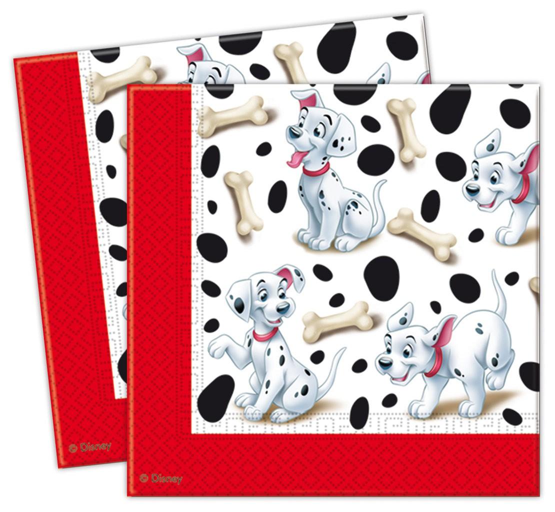 Billede af 20 stk. 101 Dalmatiner servietter