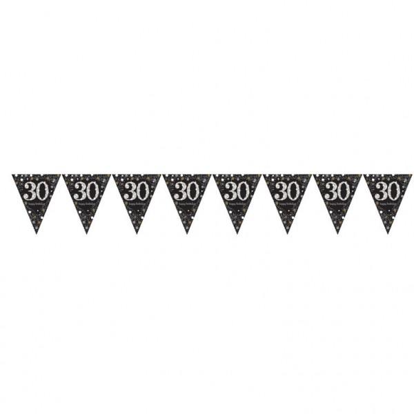 30 års Fødselsdag banner: Farve - Sølv