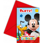 Mickey Mouse invitationer