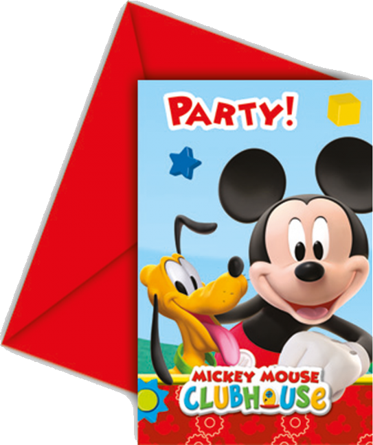 Image of   Mickey Mouse invitationer