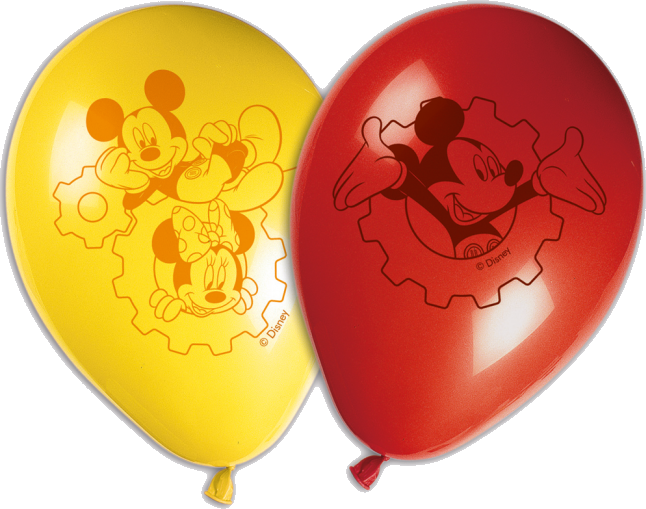 Image of   Mickey Mouse balloner - 8 Stk