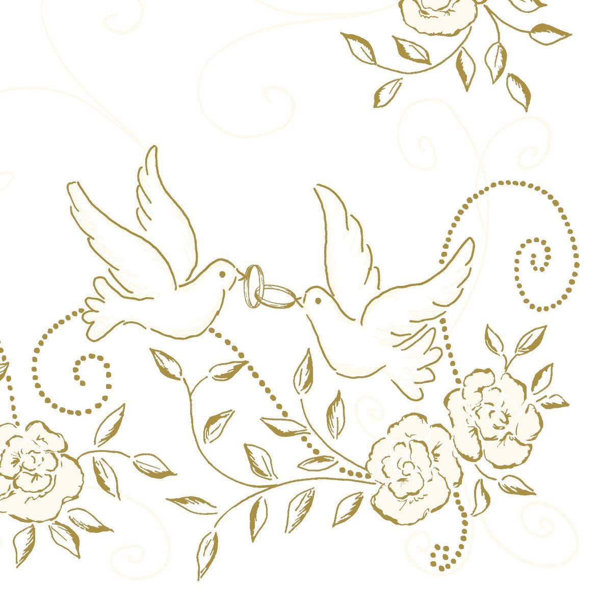 Creme - Guld Bryllups tekstilservietter