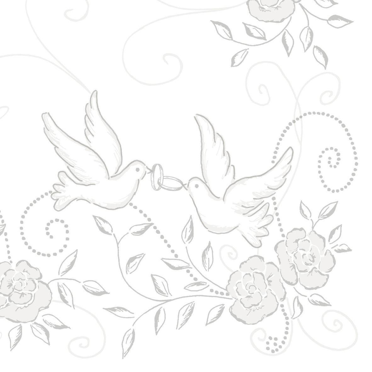 Grå - Sølv Bryllups tekstilservietter
