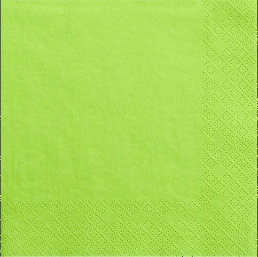 Lime grøn servietter 33 cm