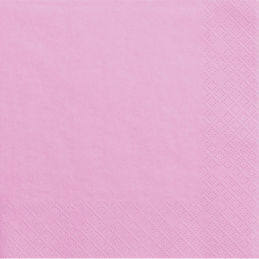Lys pink servietter 33 cm