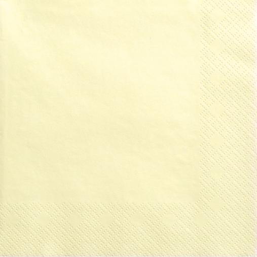 Creme servietter 33 cm