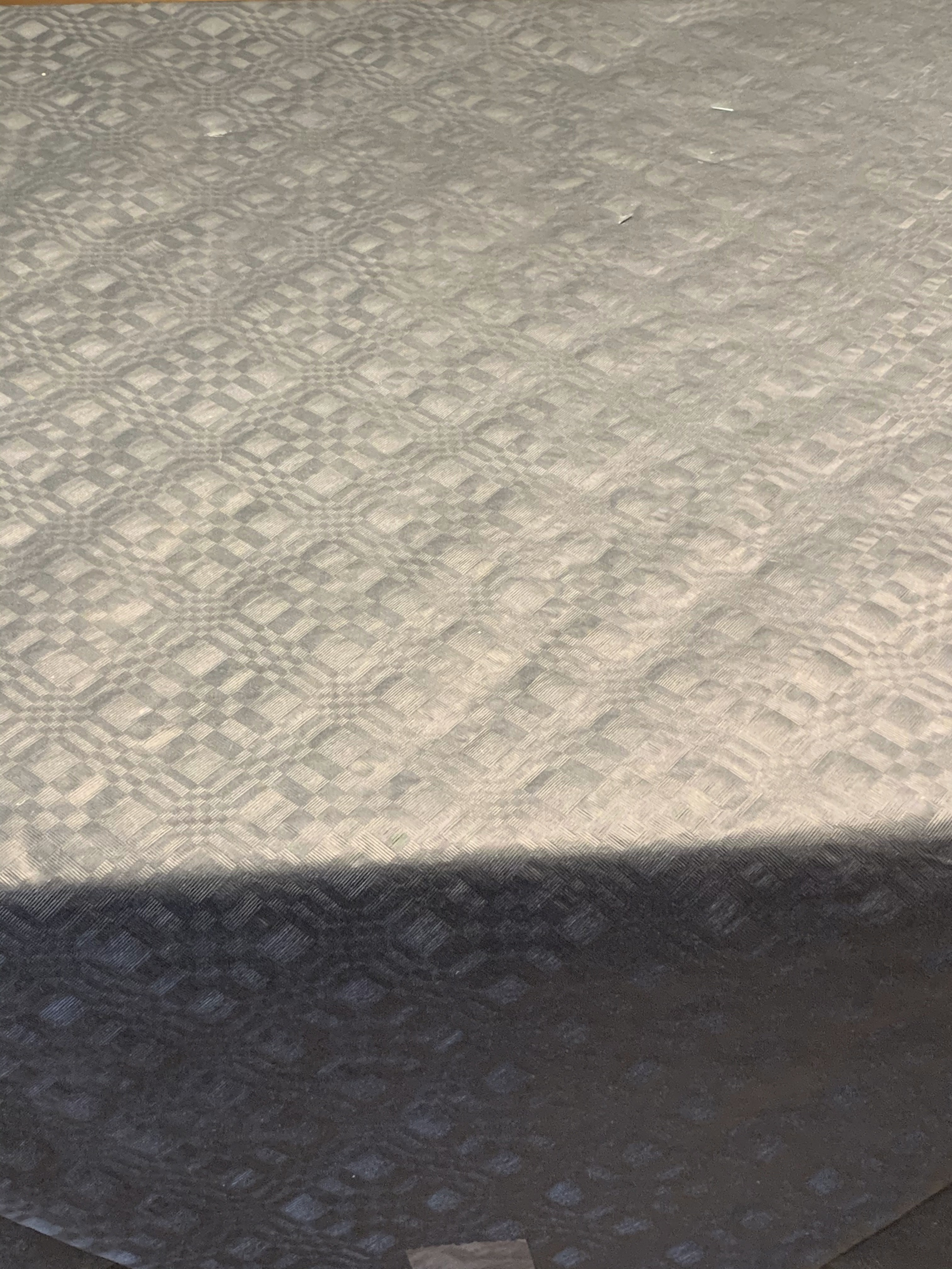 Sort papirsdug - damask - 25 meter