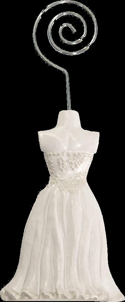 Hvid kjole kortholder
