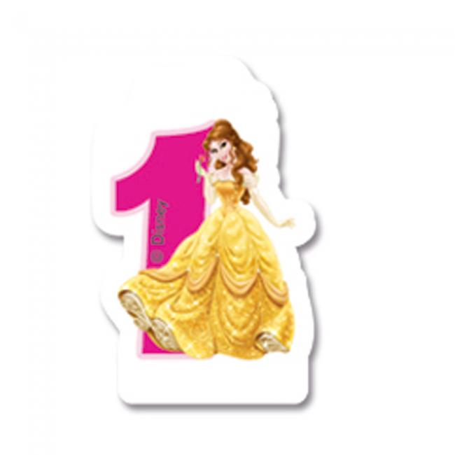 Billede af Disney Prinsesser fødselsdagslys: Fødselsdag - 1 års fødselsdag