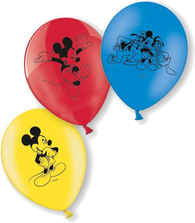 Billede af 10 Stk. Mickey Mouse balloner