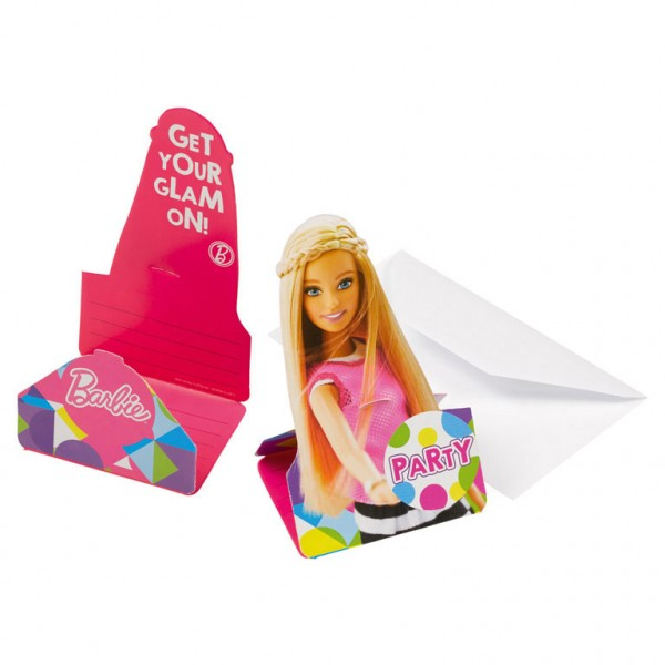 Image of   Barbie invitationer - Party