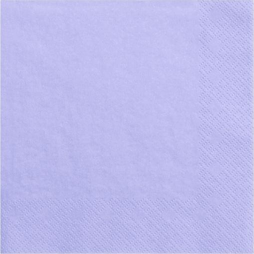 Lys lilla servietter 33 cm