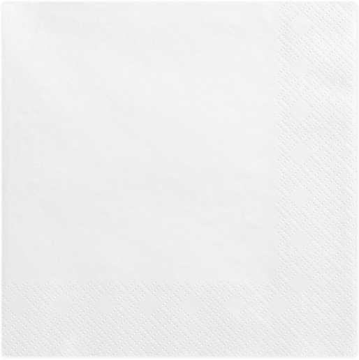 Hvide servietter 33 cm