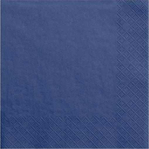 Mørk blå servietter 33 cm